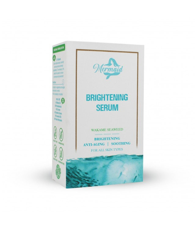 "{""id"":39,""admin_id"":2,""name"":""Brightening Serum"",""slug"":""brightening-serum"",""code"":"""",""image"":"""",""description"":""<p class=\""MsoNormal\"" style=\""margin-bottom: 0.0001pt; line-height: 15pt; background-image: initial; background-position: initial; background-size: initial; background-repeat: initial; background-attachment: initial; background-origin: initial; background-clip: initial;\""><span lang=\""EN-US\"" style=\""font-weight: bold;\"" segoe=\""\"" ui\"",=\""\"" sans-serif;=\""\"" font-weight:=\""\"" bold;\""=\""\"">BRIGHTENING\r\nSERUM<\/span><span style=\""\"" segoe=\""\"" ui\"",=\""\"" sans-serif;\""=\""\""><o:p><\/o:p><\/span><\/p><p class=\""MsoNormal\"" align=\""center\"" style=\""text-align: justify; margin-bottom: 0.0001pt;\"">\r\n\r\n<\/p><p class=\""MsoNormal\"" style=\""margin-bottom: 7.5pt; line-height: 15pt; background-image: initial; background-position: initial; background-size: initial; background-repeat: initial; background-attachment: initial; background-origin: initial; background-clip: initial;\""><span lang=\""EN-US\"" style=\""\"" segoe=\""\"" ui\"",=\""\"" sans-serif;\""=\""\"">FOR ALL SKIN TYPES<\/span><\/p><p class=\""MsoNormal\"" style=\""margin-bottom: 7.5pt; line-height: 15pt; background-image: initial; background-position: initial; background-size: initial; background-repeat: initial; background-attachment: initial; background-origin: initial; background-clip: initial;\""><span lang=\""EN-US\"" style=\""\"" segoe=\""\"" ui\"",=\""\"" sans-serif;\""=\""\""><br><\/span><\/p><p class=\""MsoNormal\"" style=\""margin-bottom: 7.5pt; line-height: 15pt; background-image: initial; background-position: initial; background-size: initial; background-repeat: initial; background-attachment: initial; background-origin: initial; background-clip: initial;\""><span style=\""\"" segoe=\""\"" ui\"",=\""\"" sans-serif;\""=\""\""><o:p><\/o:p><\/span><\/p><p class=\""MsoNormal\"" align=\""center\"" style=\""margin-bottom: 0.0001pt; text-align: center; line-height: normal; background-image: initial; background-position: initial; background-size: initial; background-repeat: initial; background-attachment: initial; background-origin: initial; background-clip: initial;\""><span style=\""\"" segoe=\""\"" ui\"",\""sans-serif\"";=\""\"" mso-fareast-font-family:\""times=\""\"" new=\""\"" roman\"";color:#00b7cd;mso-fareast-language:=\""\"" en-in\""=\""\""><o:p><\/o:p><\/span><\/p><p class=\""MsoNormal\"" style=\""margin-bottom: 0.0001pt;\""><span style=\""font-weight: bold;\"">DESCRIPTION:<\/span><span style=\""line-height: 107%;\""> Mermaid Marine Beauty Secret Brightening\r\nSerum has been developed with wakame, a seaweed rich in natural healing\r\nqualities and beauty benefits. This lightweight moisturiser has a highly\r\nconcentrated formula that is designed to enhance the effects of a daily moisturiser.\r\nIt activates the wakame\u2019s restorative properties to visibly brighten and\r\nsmoothen the complexion, inhibit the deterioration of extracellular matrix\r\nproteins, and soothe inflamed and irritated skin.<o:p><\/o:p><\/span><\/p><p class=\""MsoNormal\"" style=\""margin-bottom: 0.0001pt;\""><span style=\""line-height: 107%;\""><o:p> <\/o:p><\/span><\/p><p class=\""MsoNormal\"" style=\""margin-bottom: 0.0001pt;\""><span style=\""line-height: 107%;\""><span style=\""font-weight: bold;\"">Brightening <\/span><o:p><\/o:p><\/span><\/p><p class=\""MsoNormal\"" style=\""margin-bottom: 0.0001pt;\""><span style=\""line-height: 107%;\"">Wakame contains a\r\npigment called fucoxanthin that actively targets the over production of melanin\r\nin the skin. This reduces the likelihood of age spots and hyperpigmentation.<o:p><\/o:p><\/span><\/p><p class=\""MsoNormal\"" style=\""margin-bottom: 0.0001pt;\""><span style=\""line-height: 107%;\""><o:p> <\/o:p><\/span><\/p><p class=\""MsoNormal\"" style=\""margin-bottom: 0.0001pt;\""><span style=\""line-height: 107%;\""><span style=\""font-weight: bold;\"">Anti-aging<\/span><o:p><\/o:p><\/span><\/p><p class=\""MsoNormal\"" style=\""margin-bottom: 0.0001pt; line-height: normal;\"">Our formula\r\nactivates the seaweed\u2019s propensity to inhibit the harmful effects of elastase\r\nand collagenase \u2013 enzymes that age and degenerate the skin. It further promotes\r\nthe formation of extracellular matrix proteins that contribute to the skin\u2019s\r\ngood health. Wakame is also known to stimulate the natural\r\nproduction of hyaluronic acid, which helps the skin maintain its elasticity and\r\nsmoothness.<o:p><\/o:p><\/p><p class=\""MsoNormal\"" style=\""margin-bottom: 0.0001pt;\""><span style=\""line-height: 107%;\""><o:p> <\/o:p><\/span><\/p><p class=\""MsoNormal\"" style=\""margin-bottom: 0.0001pt;\""><span style=\""line-height: 107%;\""><span style=\""font-weight: bold;\"">Soothing<\/span><o:p><\/o:p><\/span><\/p><p class=\""MsoNormal\"" style=\""margin-bottom: 0.0001pt;\""><span style=\""line-height: 107%;\"">The polyunsaturated\r\nfatty acids and antioxidants present in wakame work to relieve inflammation\r\ncaused by UV radiation, allergens and pollutants. This helps to reduce the\r\ndevelopment of rashes, edema and erythema. <\/span><span style=\""line-height: 107%;\"">The fucoidan content in wakame\r\nalso enhances the skin\u2019s immunity and reduces inflammation.<\/span><span style=\""line-height: 107%;\""><o:p><\/o:p><\/span><\/p><p class=\""MsoNormal\"" style=\""margin-bottom: 0.0001pt;\""><span style=\""line-height: 107%; background-image: initial; background-position: initial; background-size: initial; background-repeat: initial; background-attachment: initial; background-origin: initial; background-clip: initial;\""><o:p> <\/o:p><\/span><\/p><p class=\""MsoNormal\"" style=\""margin-bottom: 0.0001pt;\"">THESE FORMULATIONS ARE NATURAL, PARABEN FREE, SULFATE FREE, PRESERVATIVE FREE.<\/p><p class=\""MsoNormal\"" style=\""margin-bottom: 0.0001pt;\""><br><span style=\""font-weight: bold;\""><span style=\""line-height: 107%;\"">DIRECTIONS OF USE:<\/span><span style=\""line-height: 107%;\""> <\/span><\/span><span style=\""background-image: initial; background-position: initial; background-size: initial; background-repeat: initial; background-attachment: initial; background-origin: initial; background-clip: initial;\"">After cleansing, take a few drops of the product on your\r\nfingertips and gently pat all over the face with light pressure, working from\r\nthe centre of the face outward. Use daily in the morning on clean skin, before moisturising\r\nwith Mermaid Marine Beauty Secret Brightening Day Cream.<\/span><\/p><p class=\""MsoNormal\"" style=\""margin-bottom: 0.0001pt;\""><br><\/p><p class=\""MsoNormal\"" style=\""margin-bottom: 0.0001pt;\"">Can be used individually or along with other products in the Mermaid Marine Beauty Secret Brightening skincare routine, in the following\r\norder: <\/p><p class=\""MsoNormal\"" style=\""margin-bottom: 0.0001pt;\"">Mermaid Marine Beauty Secret Clarifying Lotion <\/p><p class=\""MsoNormal\"" style=\""margin-bottom: 0.0001pt;\"">Mermaid Marine Beauty Secret Brightening Scrub <\/p><p class=\""MsoNormal\"" style=\""margin-bottom: 0.0001pt;\"">Mermaid Marine Beauty Secret Brightening Face Pack   <\/p><p class=\""MsoNormal\"" style=\""margin-bottom: 0.0001pt;\"">Mermaid Marine Beauty Secret Brightening Serum <\/p><p class=\""MsoNormal\"" style=\""margin-bottom: 0.0001pt;\"">Mermaid Marine Beauty Secret Brightening Day Cream (for your\r\nday routine)  <\/p><p class=\""MsoNormal\"" style=\""margin-bottom: 0.0001pt;\"">Mermaid Marine Beauty Secret Brightening Night Cream (for\r\nyour night routine)<\/p><p>\r\n\r\n\r\n\r\n\r\n\r\n\r\n\r\n\r\n\r\n\r\n\r\n\r\n\r\n\r\n\r\n\r\n\r\n\r\n\r\n\r\n\r\n\r\n\r\n\r\n\r\n\r\n\r\n\r\n\r\n\r\n\r\n\r\n\r\n\r\n\r\n\r\n\r\n\r\n\r\n\r\n\r\n\r\n\r\n<\/p><p class=\""trt0xe\"" style=\""margin: 0cm 0cm 0.0001pt; background-image: initial; background-position: initial; background-size: initial; background-repeat: initial; background-attachment: initial; background-origin: initial; background-clip: initial;\""><span style=\""background-image: initial; background-position: initial; background-size: initial; background-repeat: initial; background-attachment: initial; background-origin: initial; background-clip: initial;\""><o:p style=\""\""> <\/o:p><\/span><\/p>"",""amount"":0,""distributor_price"":0,""points"":1,""gst_rate_id"":null,""status"":1,""qty"":0,""created_at"":""2019-12-05 16:46:11"",""updated_at"":""2020-02-24 18:20:04""}"
